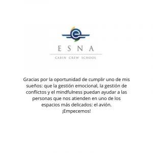 Talleres de gestión emocional con mindfulness para la Escuela Superior de Navegación Aérea durante el primer trimestre de 2020