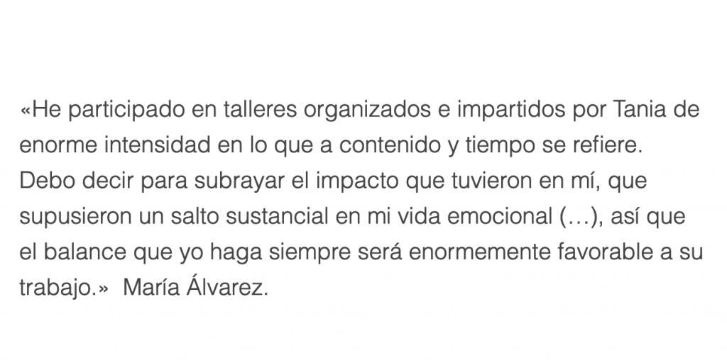 Tania Hernandez testimonios Maria Alvarez